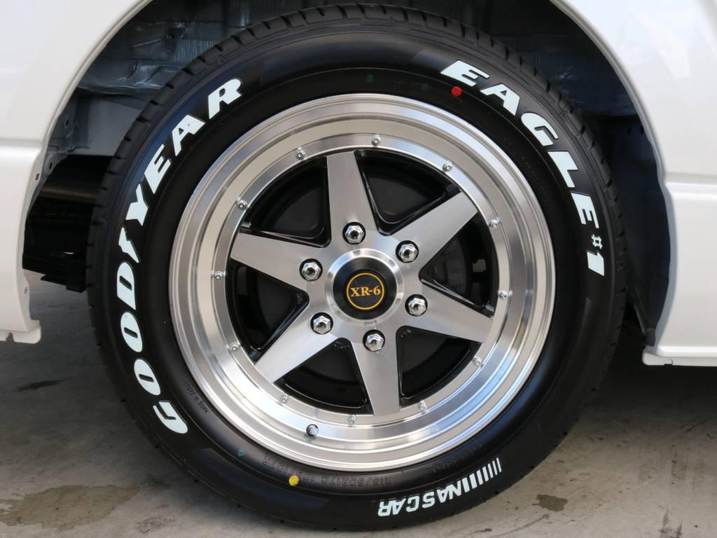 新品XR-6 17インチアルミホイール装着!! | トヨタ ハイエース 2.7 GL ロング ミドルルーフ TSS付 ナビパッケージ
