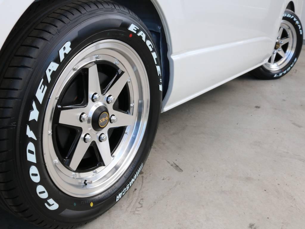 グッドイヤー17インチナスカータイヤ装着してます!! | トヨタ ハイエース 2.7 GL ロング ミドルルーフ TSS付 ナビパッケージ