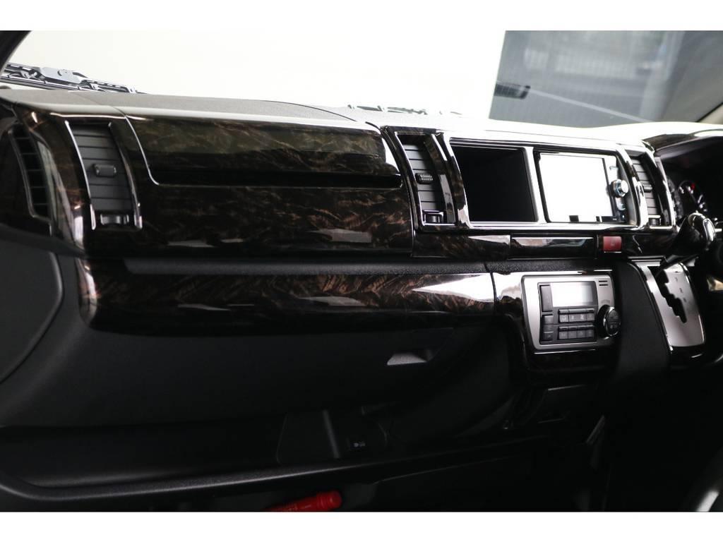 インパネ周りにも高級感が漂ってますね!! | トヨタ ハイエース 2.7 GL ロング ミドルルーフ TSS付 ナビパッケージ