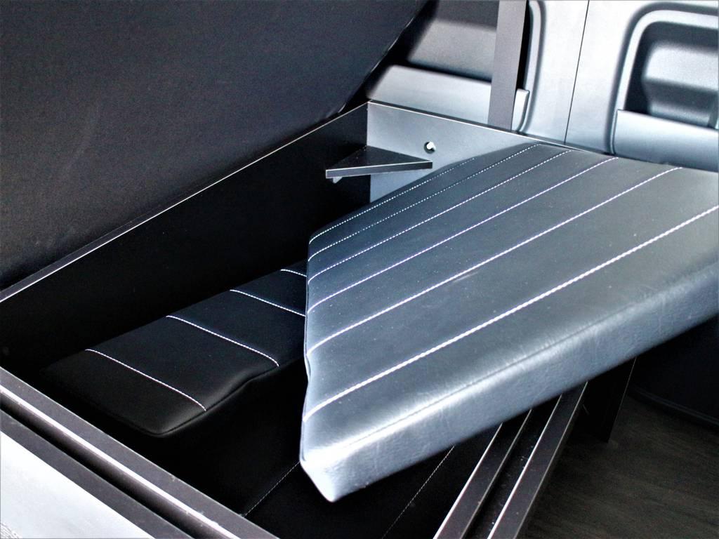ベッドキット収納可能です! | トヨタ ハイエース 2.7 GL ロング ミドルルーフ 4WD アレンジR1内装架装