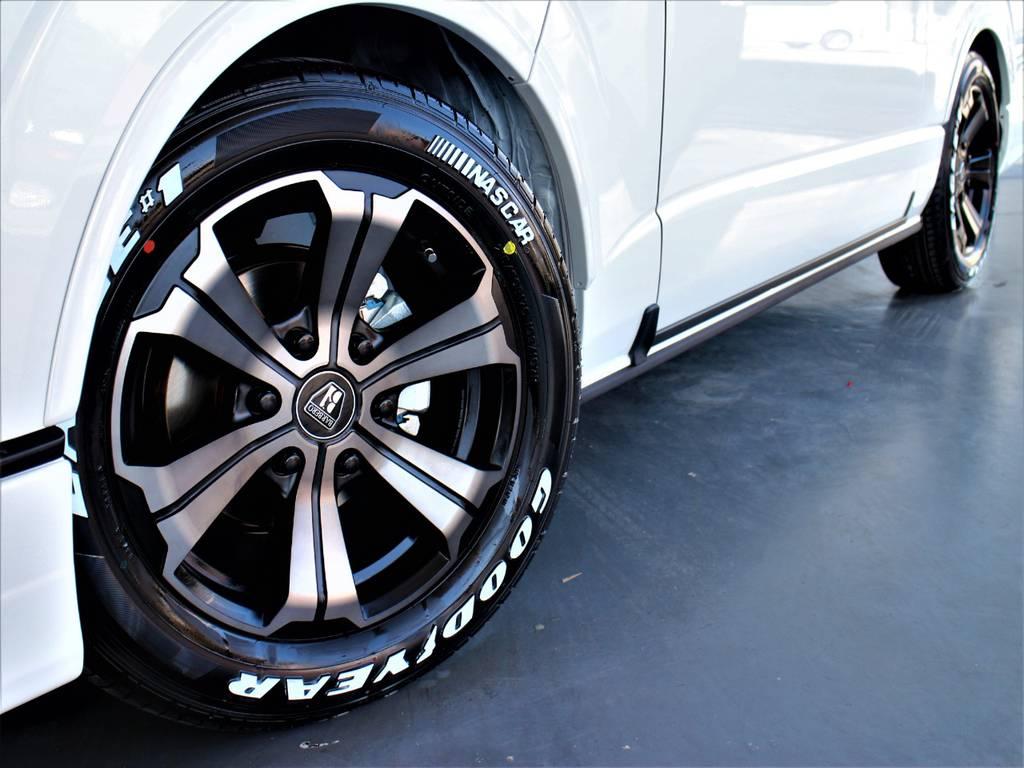 バルベロ17インチアルミホイール! グッドイヤーイーグルナスカータイヤ! | トヨタ ハイエース 2.7 GL ロング ミドルルーフ 4WD アレンジR1内装架装