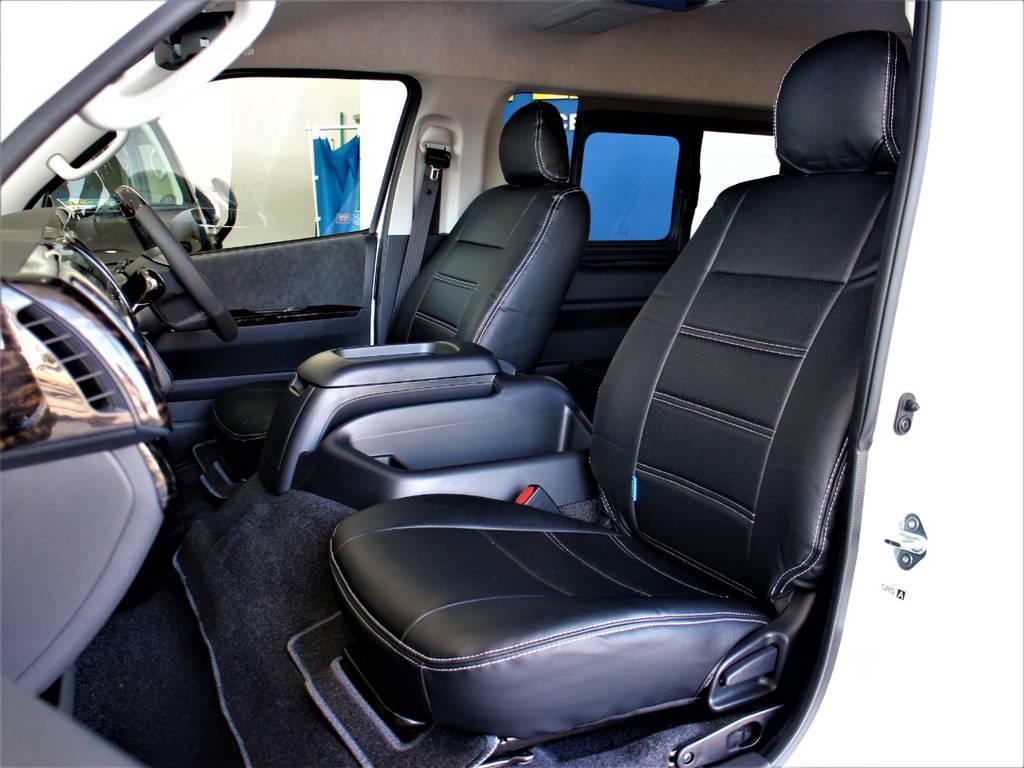 全席シートカバー! | トヨタ ハイエース 2.7 GL ロング ミドルルーフ 4WD アレンジR1内装架装
