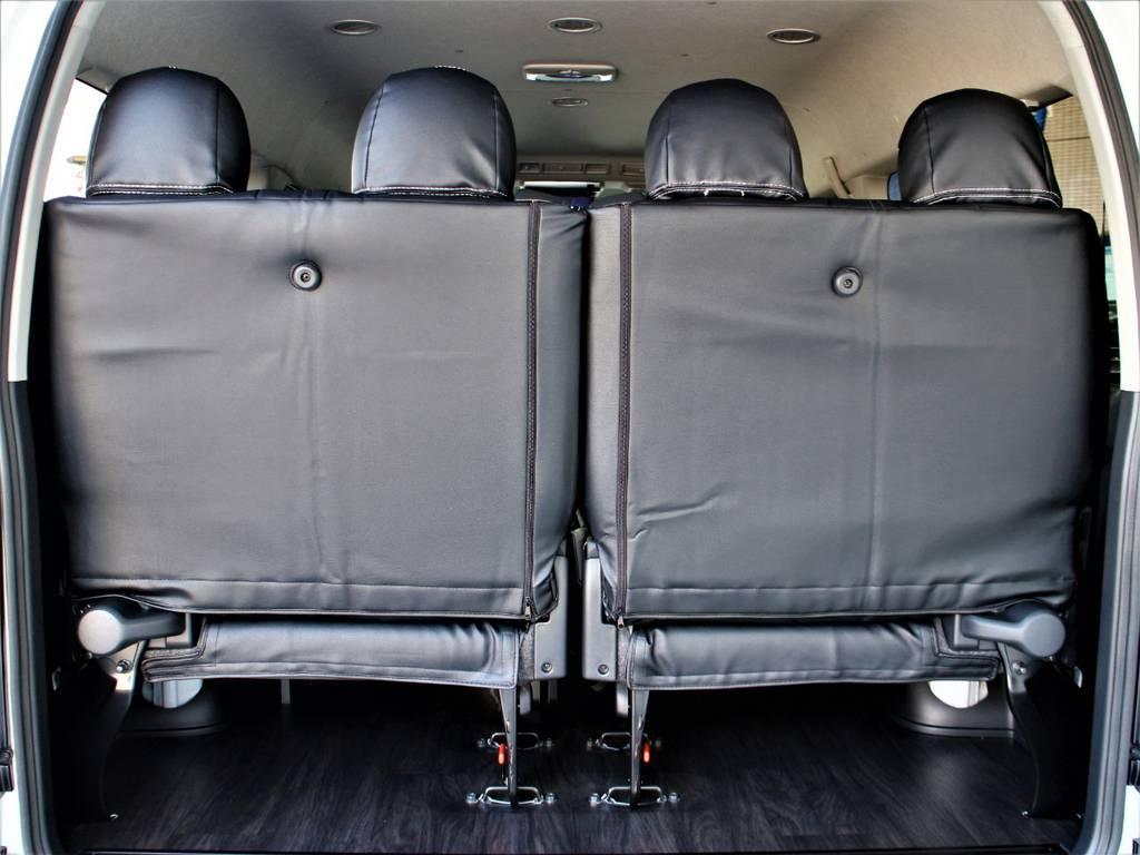 後席4人定員です! | トヨタ ハイエース 2.7 GL ロング ミドルルーフ 4WD アレンジR1内装架装