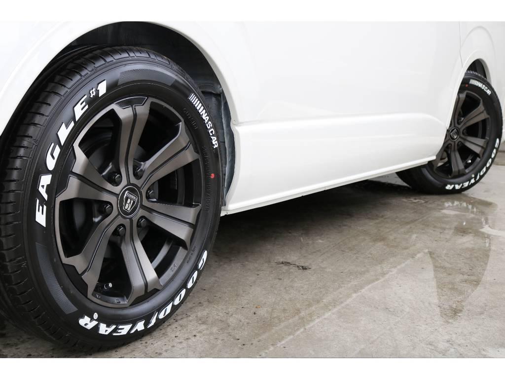 タイヤはナスカータイヤで!! | トヨタ ハイエース 2.7 GL ロング ミドルルーフ 4WD アレンジR1内装架装
