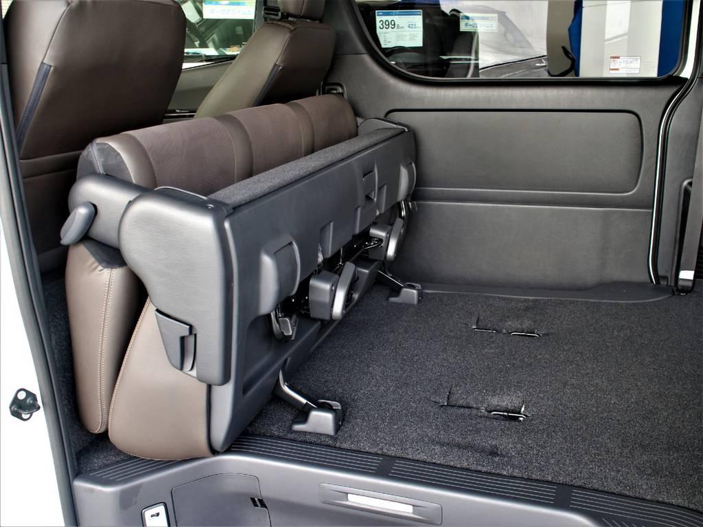 セカンドシートは折りたたみ可能です! | トヨタ ハイエースバン 2.8 スーパーGL 50TH アニバーサリー リミテッド ロングボディ ディーゼルターボ 4WD