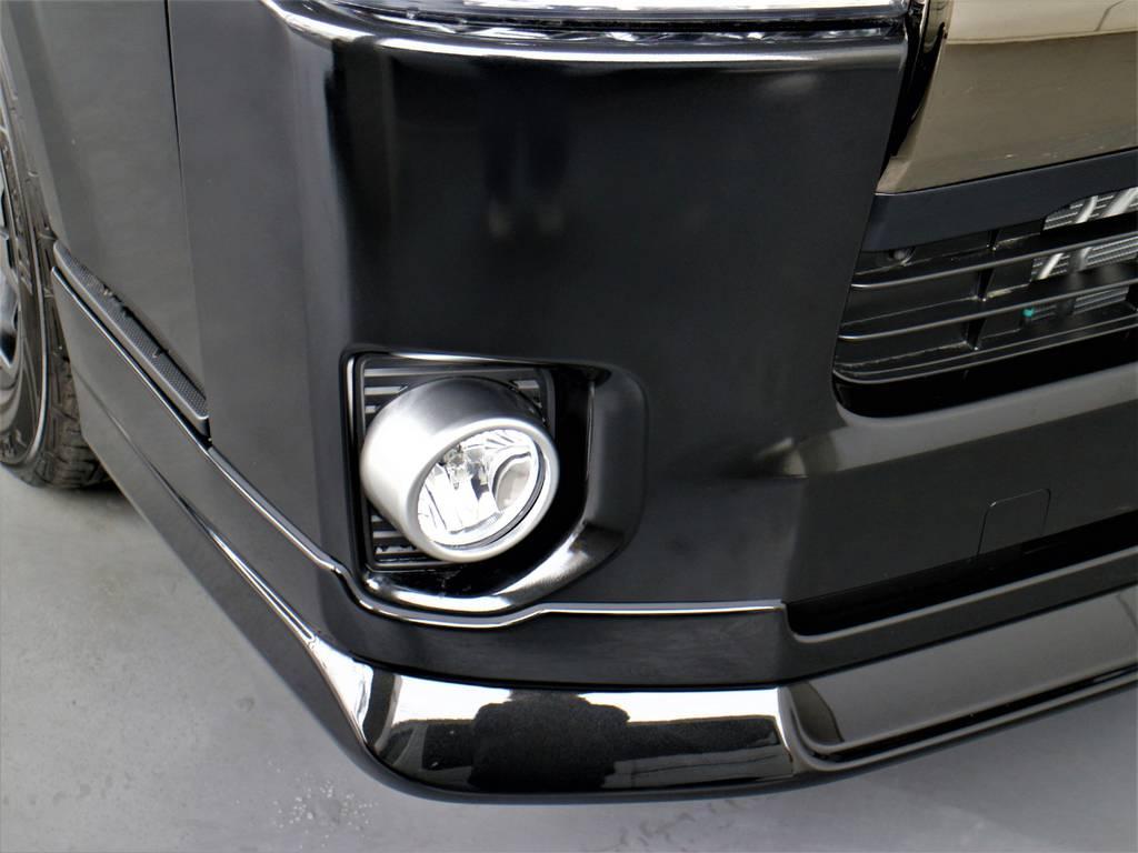 FLEXオリジナルDelfino Lineフロントスポイラー!   トヨタ ハイエースバン 2.8 スーパーGL 50TH アニバーサリー リミテッド ロングボディ ディーゼルターボ