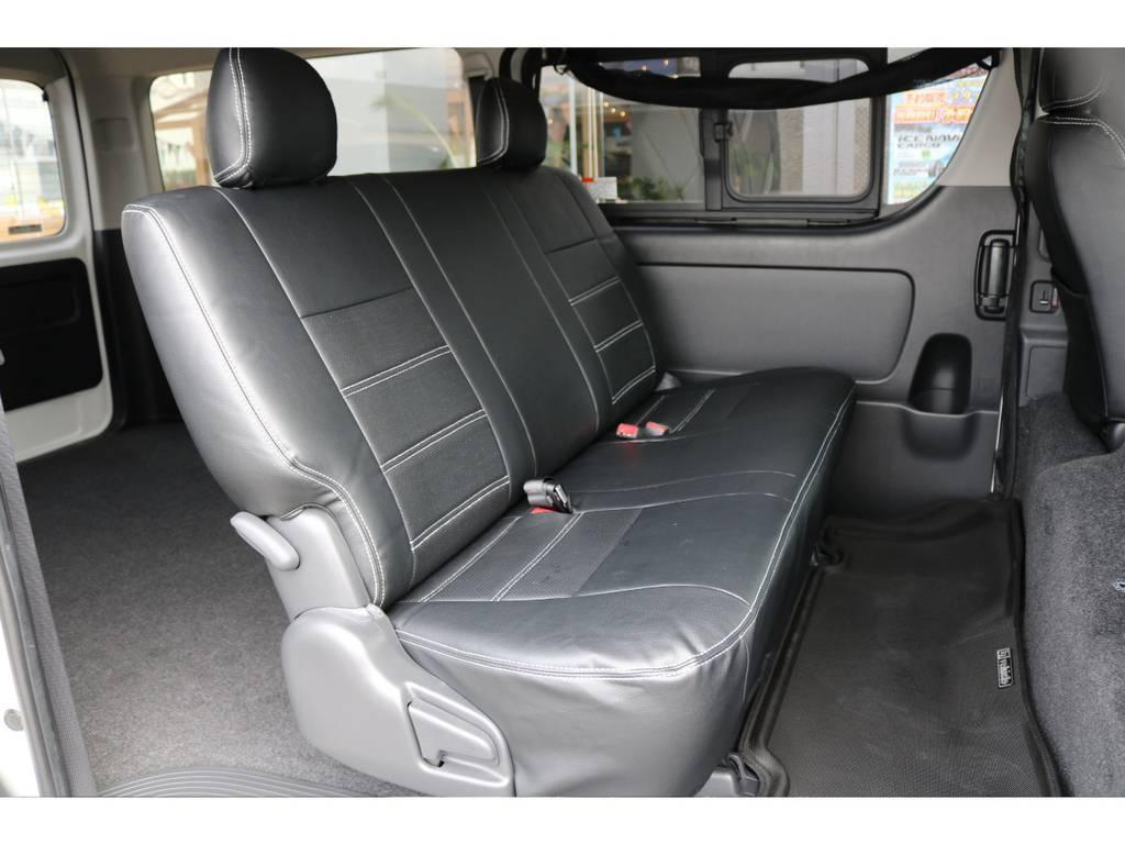 セカンドシートは3人定員です! | トヨタ ハイエースバン 2.7 スーパーGL ワイド ロング ミドルルーフ 4WD