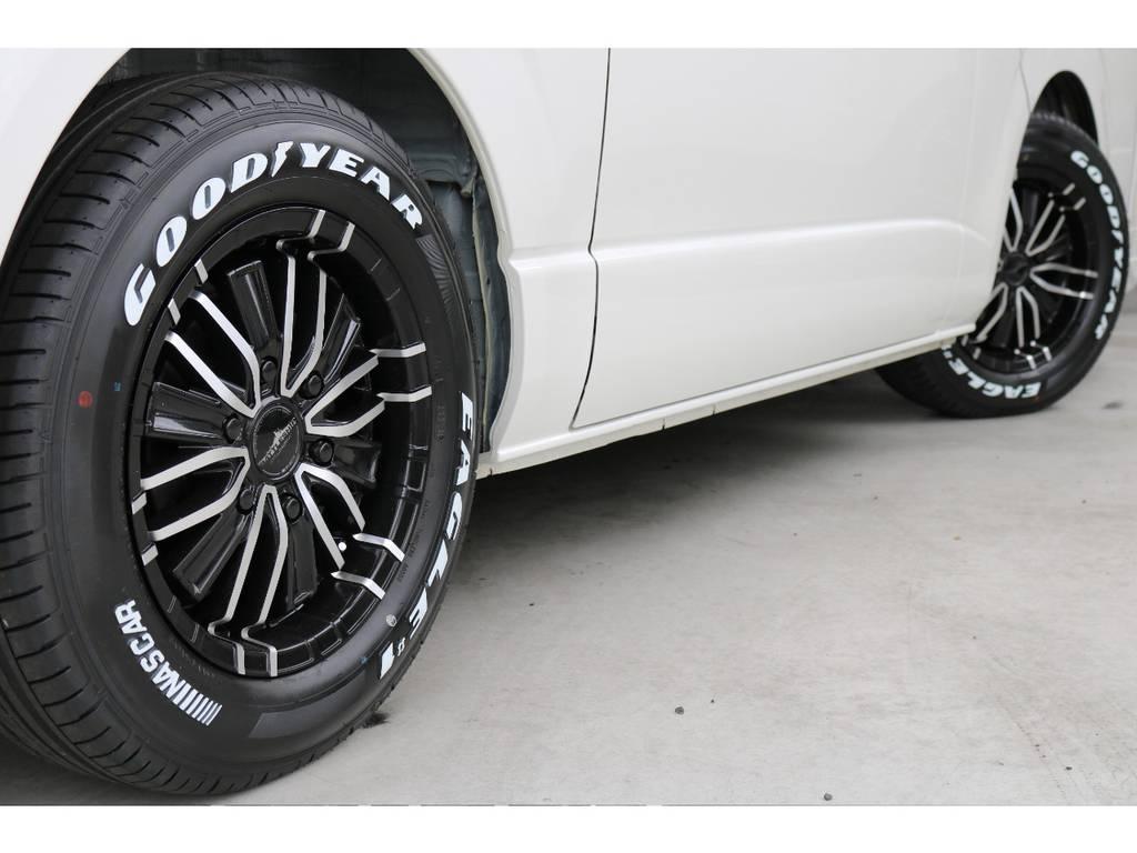 バトルシップ16インチアルミホイール! グッドイヤーイーグルナスカータイヤ! | トヨタ ハイエースバン 2.7 スーパーGL ワイド ロング ミドルルーフ 4WD