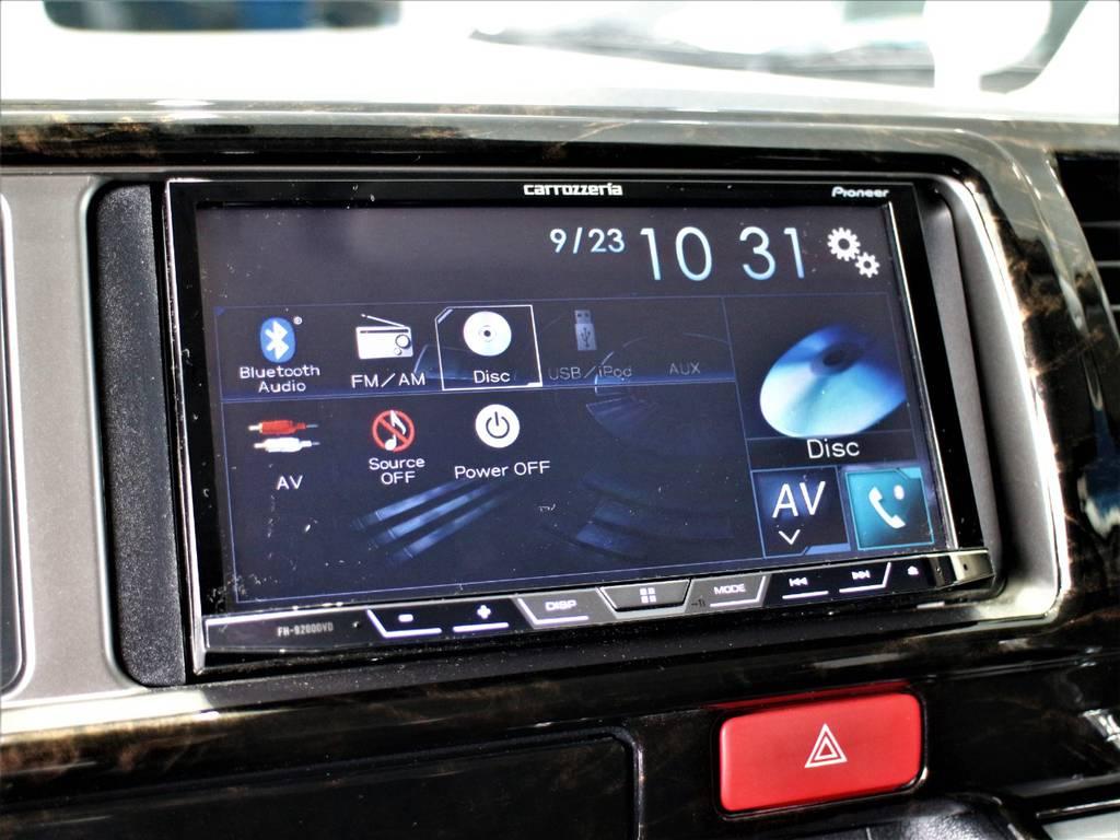 ※DVD再生・Bluetooth接続! | トヨタ ハイエースバン 2.7 スーパーGL ワイド ロング ミドルルーフ 4WD