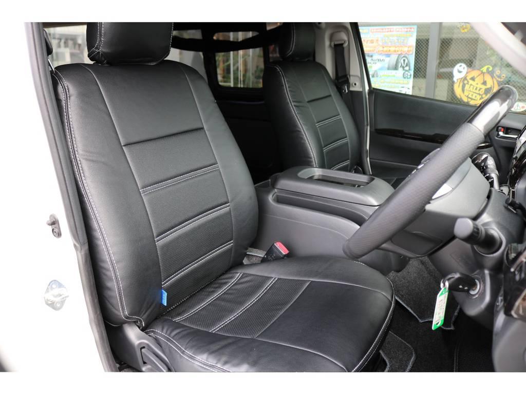 全席シートカバー! | トヨタ ハイエースバン 2.7 スーパーGL ワイド ロング ミドルルーフ 4WD