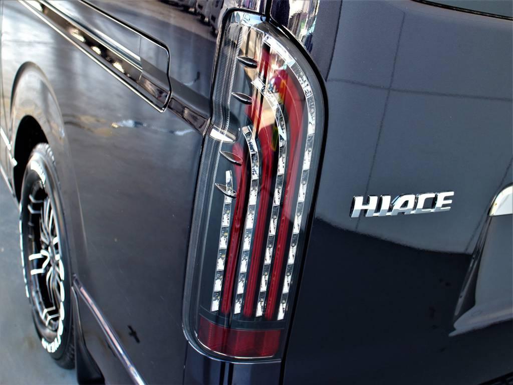 FLEX煌LEDテールランプ! | トヨタ ハイエースバン 3.0 スーパーGL ダークプライム ロングボディ ディーゼルターボ 4WD