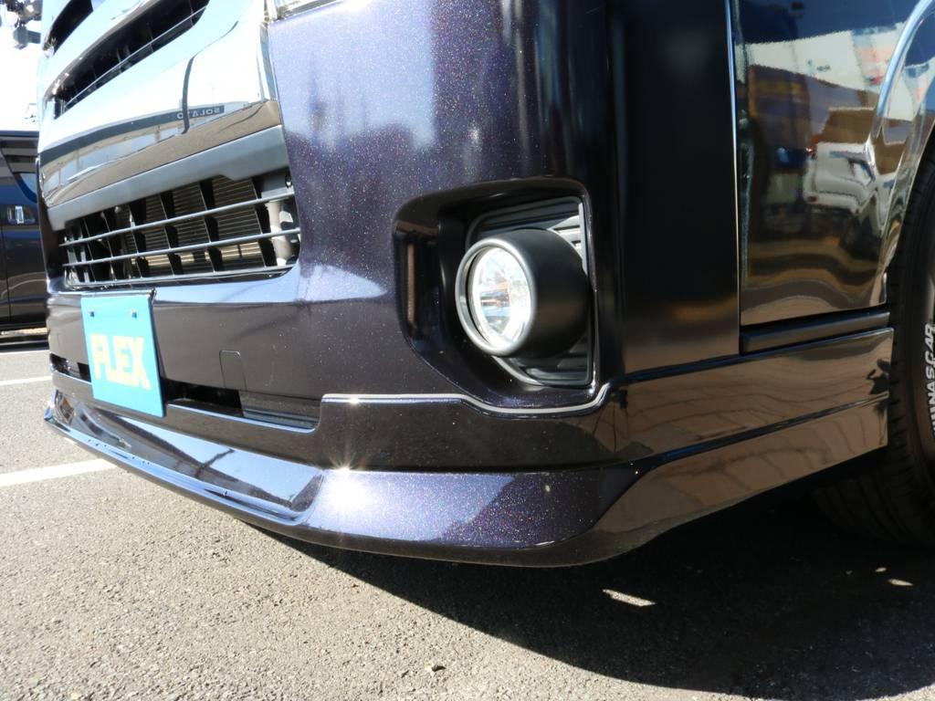FLEXオリジナルDelfino Lineフロントスポイラー! | トヨタ ハイエースバン 3.0 スーパーGL ダークプライム ロングボディ ディーゼルターボ 4WD