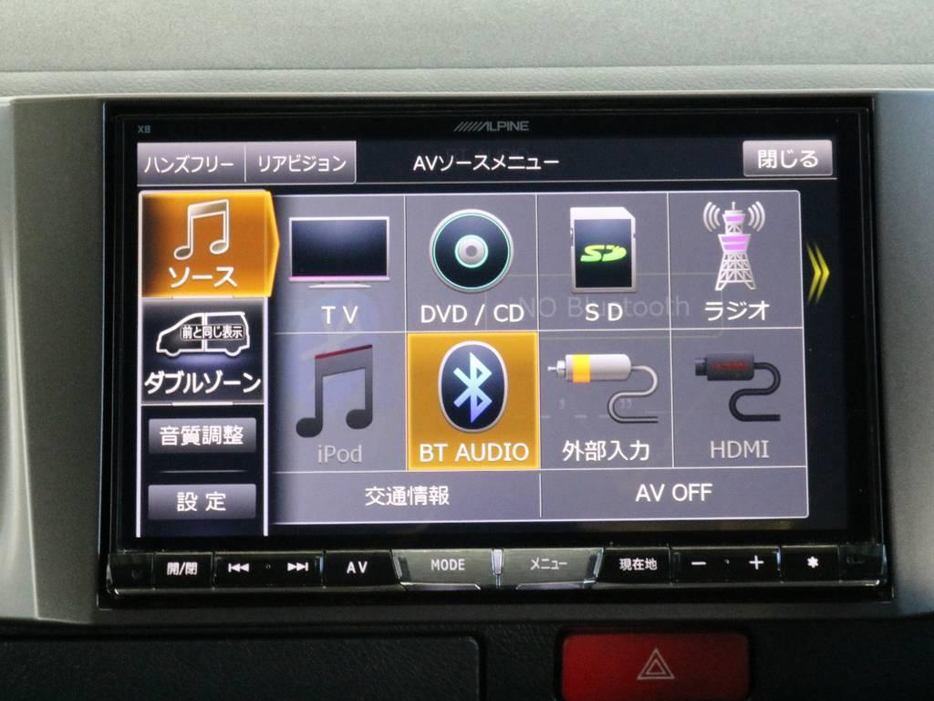 アルパインBIC-Xナビ!※音楽録音・DVD再生・フルセグ・Bluetooth接続可! | トヨタ ハイエースバン 3.0 スーパーGL ダークプライム ロングボディ ディーゼルターボ 4WD