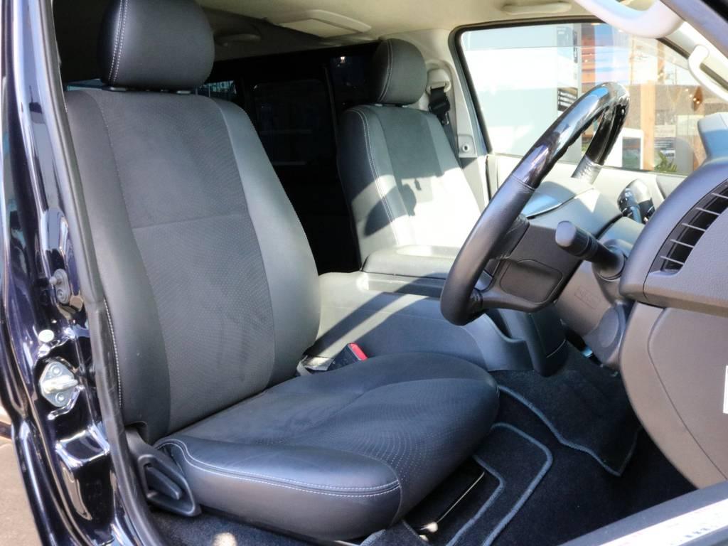座席位置が高いので運転しやすいですよ!! | トヨタ ハイエースバン 3.0 スーパーGL ダークプライム ロングボディ ディーゼルターボ 4WD