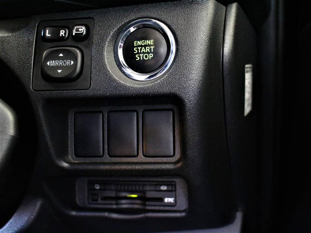 スマートキー&プッシュスタート! ビルトインETC! | トヨタ ハイエースバン 3.0 スーパーGL ダークプライム ロングボディ ディーゼルターボ 4WD