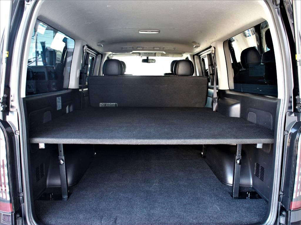 車中泊も可能です!! | トヨタ ハイエースバン 3.0 スーパーGL ダークプライム ロングボディ ディーゼルターボ 4WD