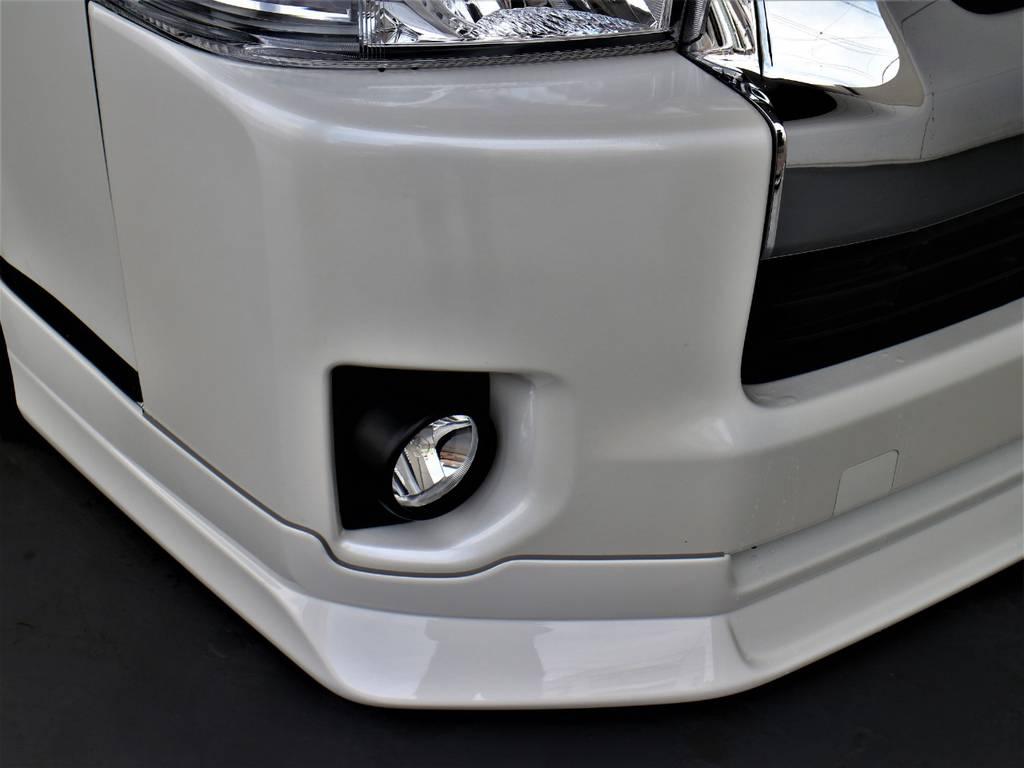 FLEXオリジナルDelfino Lineフロントスポイラー!   トヨタ ハイエースバン 3.0 スーパーGL ワイド ロング ミドルルーフ ディーゼルターボ