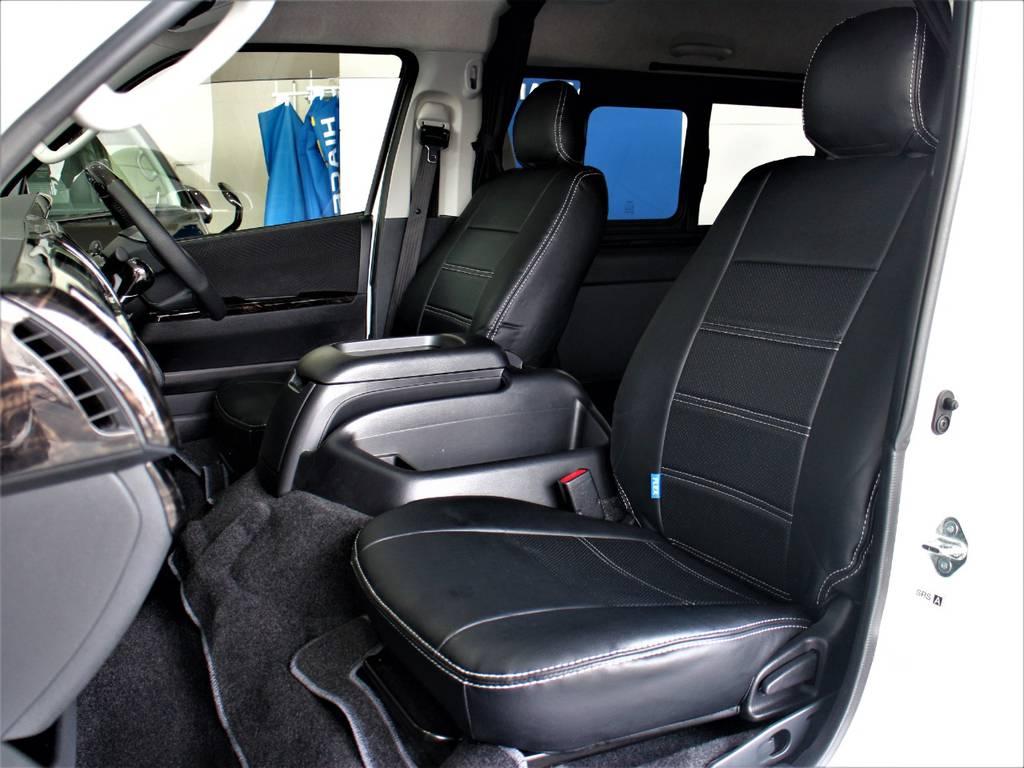 FLEXオリジナル全席シートカバー!   トヨタ ハイエースバン 3.0 スーパーGL ワイド ロング ミドルルーフ ディーゼルターボ