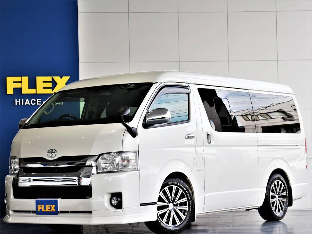 FLEXハイエースさいたま桶川店 お問い合わせはこちらまで 0487799122   トヨタ ハイエースバン 3.0 スーパーGL ワイド ロング ミドルルーフ ディーゼルターボ