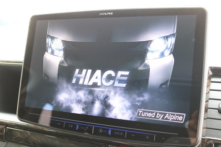 アルパイン11インチナビTV!※音楽録音・DVD再生・フルセグ・Bluetooth接続可! | トヨタ ハイエース 2.7 GL ロング ミドルルーフ 4WD R1内装架装車両