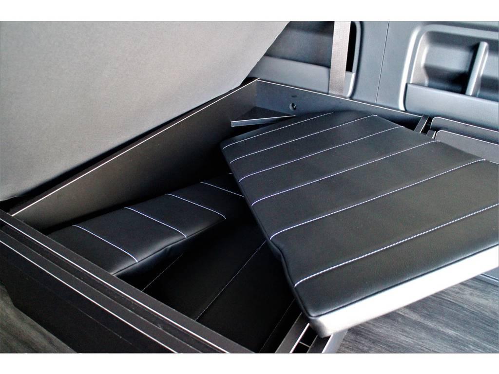 ベッドキット収納可能です! | トヨタ ハイエース 2.7 GL ロング ミドルルーフ 4WD R1内装架装車両