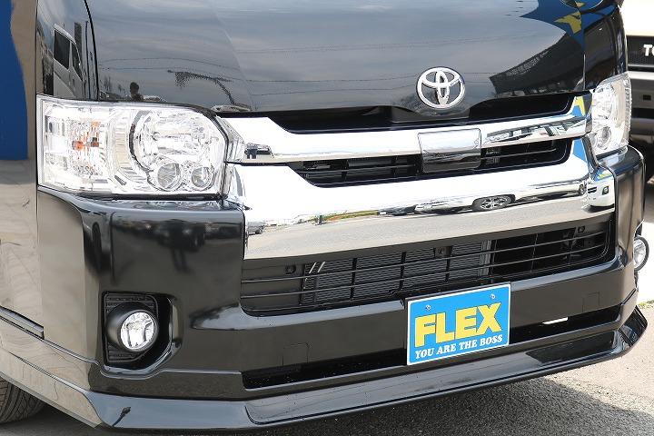 FLEXオリジナルDelfino Lineフロントスポイラー! | トヨタ ハイエース 2.7 GL ロング ミドルルーフ 4WD R1内装架装車両