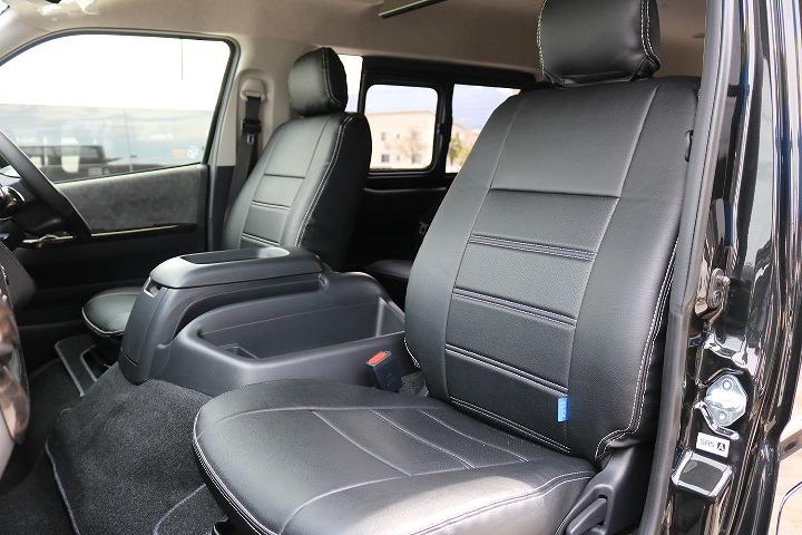 FLEXオリジナル全席シートカバー! | トヨタ ハイエース 2.7 GL ロング ミドルルーフ 4WD R1内装架装車両