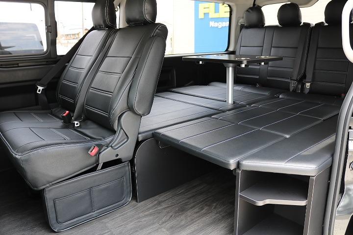 FLEXオリジナルアレンジR1内装架装!バックモニター連動加工済! | トヨタ ハイエース 2.7 GL ロング ミドルルーフ 4WD R1内装架装車両
