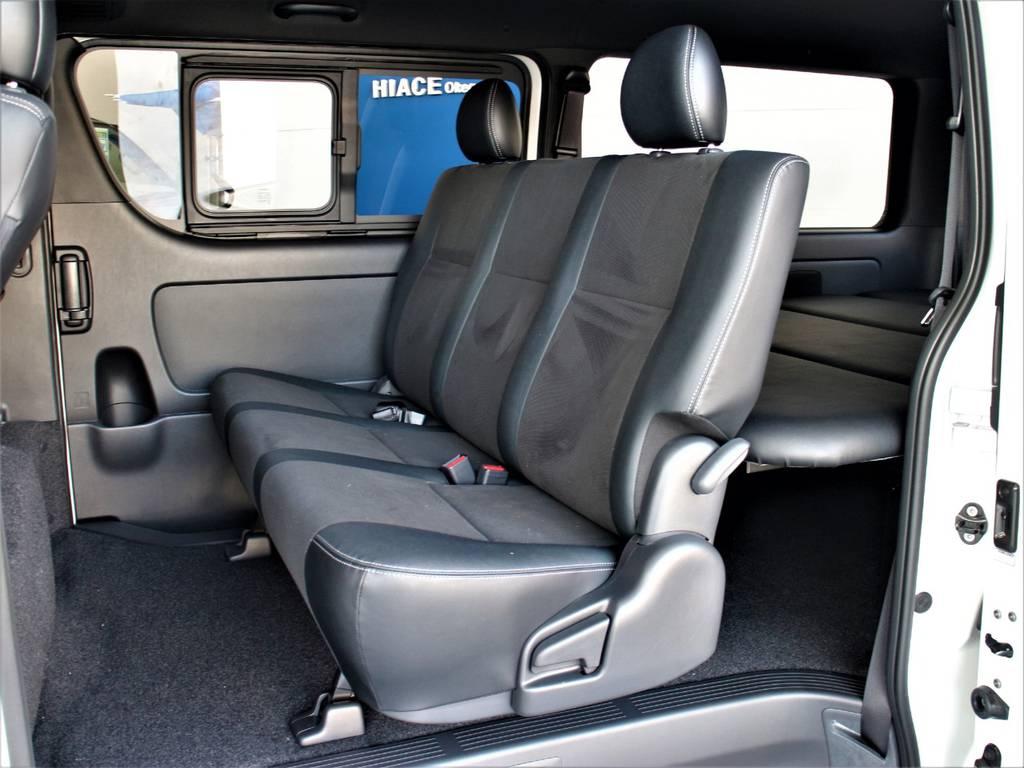 セカンドシートは3人定員です!   トヨタ ハイエースバン 2.8 スーパーGL ダークプライムⅡ ロングボディ ディーゼルターボ 4WD