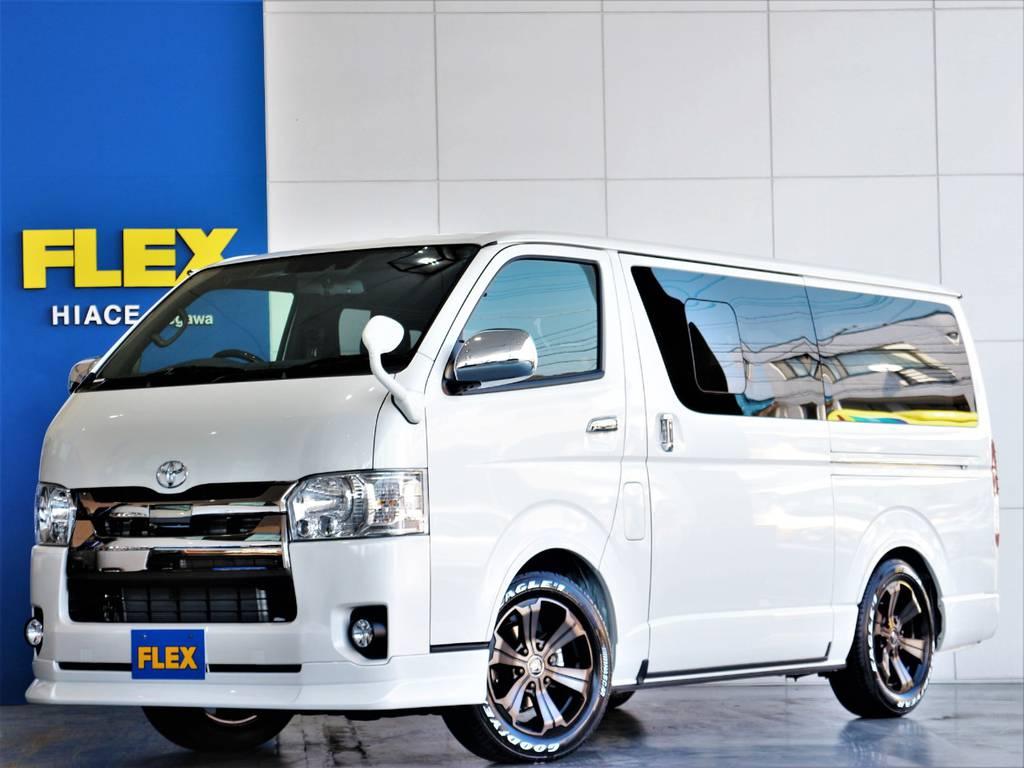 FLEXハイエースさいたま桶川店 お問い合わせはこちらまで 0487799122   トヨタ ハイエースバン 2.8 スーパーGL ダークプライムⅡ ロングボディ ディーゼルターボ 4WD