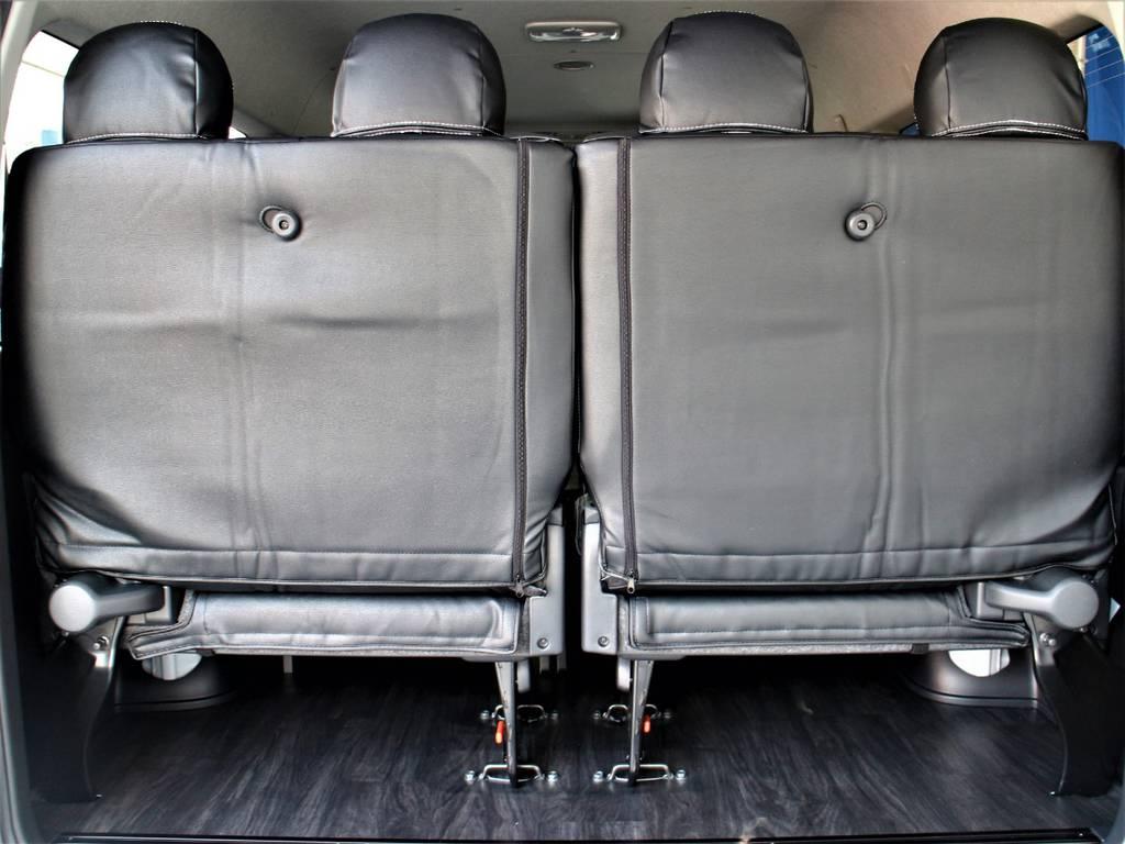 後席4人定員です! | トヨタ ハイエース 2.7 GL ロング ミドルルーフ R1内装架装