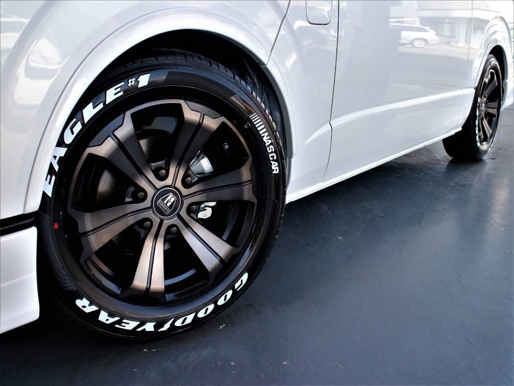 バルベロ17インチアルミホイール! グッドイヤーイーグルナスカータイヤ! CRSリーガルフェンダー! | トヨタ ハイエース 2.7 GL ロング ミドルルーフ R1内装架装