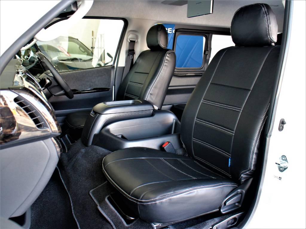 FLEXオリジナル全席シートカバー! | トヨタ ハイエース 2.7 GL ロング ミドルルーフ R1内装架装