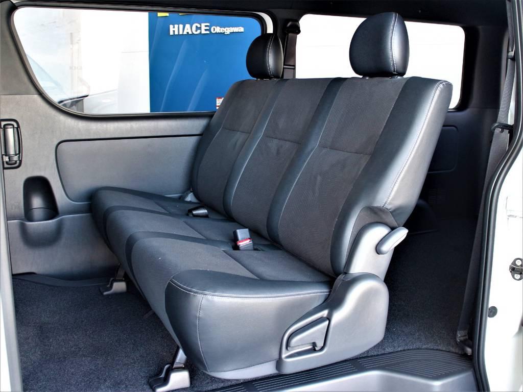 後席3人定員です! | トヨタ ハイエースバン 2.0 スーパーGL ダークプライムⅡ ロングボディ
