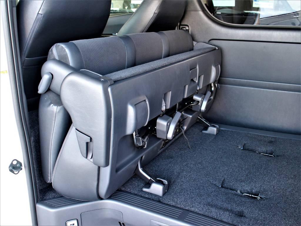セカンドシートは折りたたみ可能です! | トヨタ ハイエースバン 2.0 スーパーGL ダークプライムⅡ ロングボディ