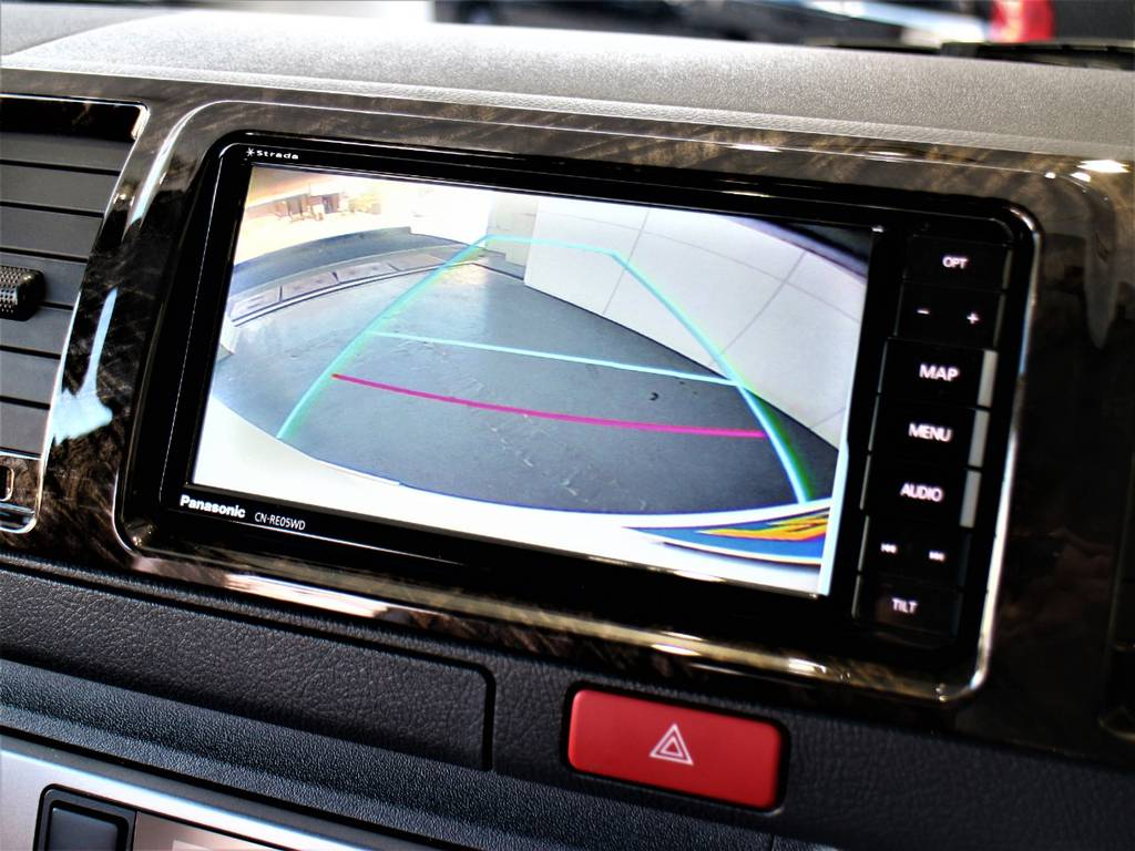 バックモニター連動加工済! | トヨタ ハイエースバン 2.8 スーパーGL ダークプライムⅡ ロングボディ ディーゼルターボ 4WD