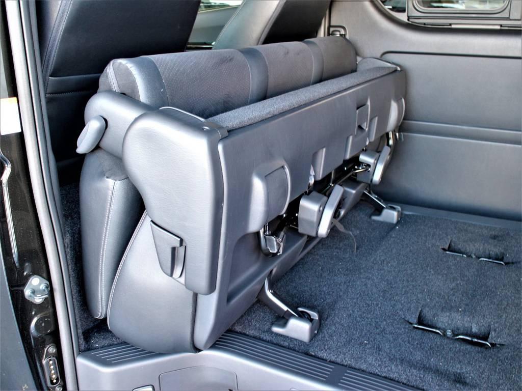 セカンドシート折りたたみ可能です! | トヨタ ハイエースバン 2.0 スーパーGL ダークプライムⅡ ロングボディ