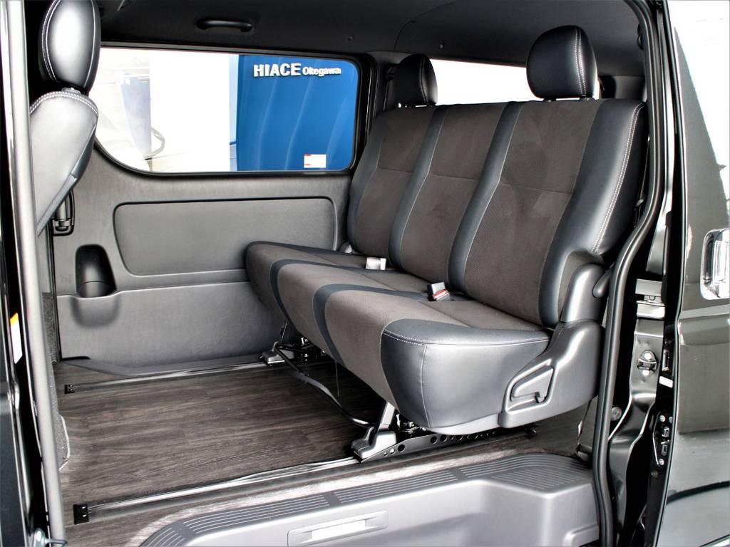 スライドレール塔載! | トヨタ ハイエースバン 2.8 スーパーGL ダークプライムⅡ ロングボディ ディーゼルターボ 4WD アレンジFU-Nスライド内装架装