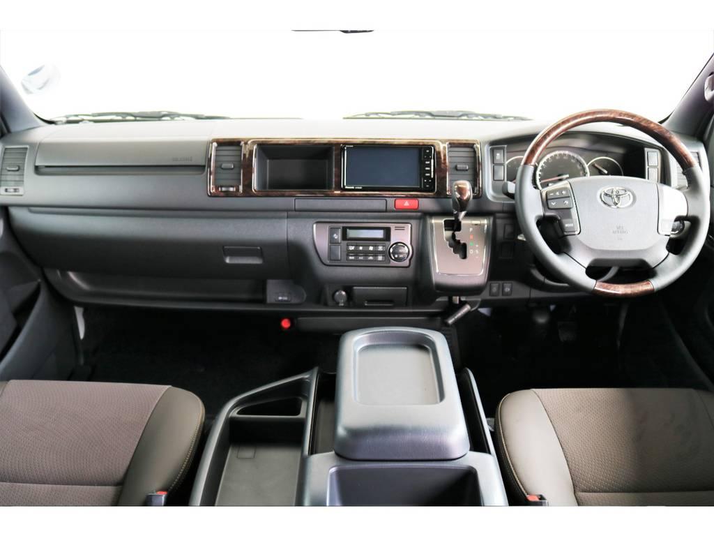 特別仕様のブラウンの内装は高級感がありますよ! | トヨタ ハイエースバン 2.8 スーパーGL 50TH アニバーサリーLTD ワイド ミドルルーフ ロングボディ Dターボ 両側パワスラ
