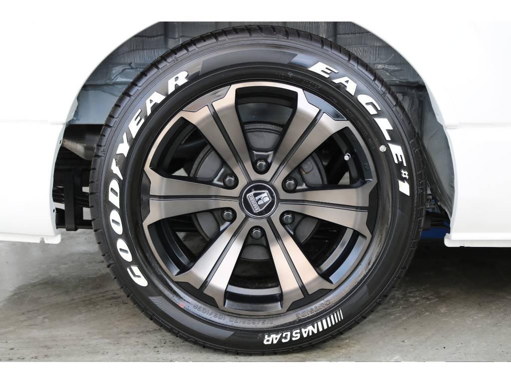 バルベロ17インチアルミホイール/グッドイヤーイーグルナスカータイヤ | トヨタ ハイエースバン 2.8 スーパーGL 50TH アニバーサリーLTD ワイド ミドルルーフ ロングボディ Dターボ 両側パワスラ