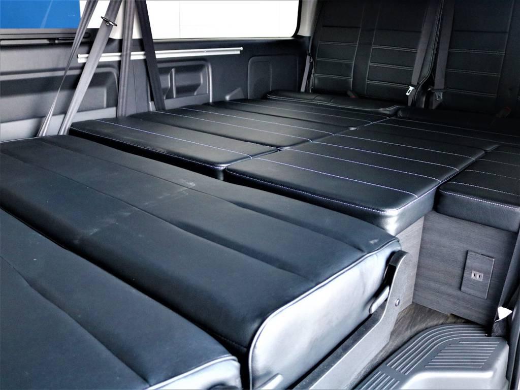 フルフラット可能です♪ | トヨタ ハイエース 2.7 GL ロング ミドルルーフ バージョンⅡ内装架装