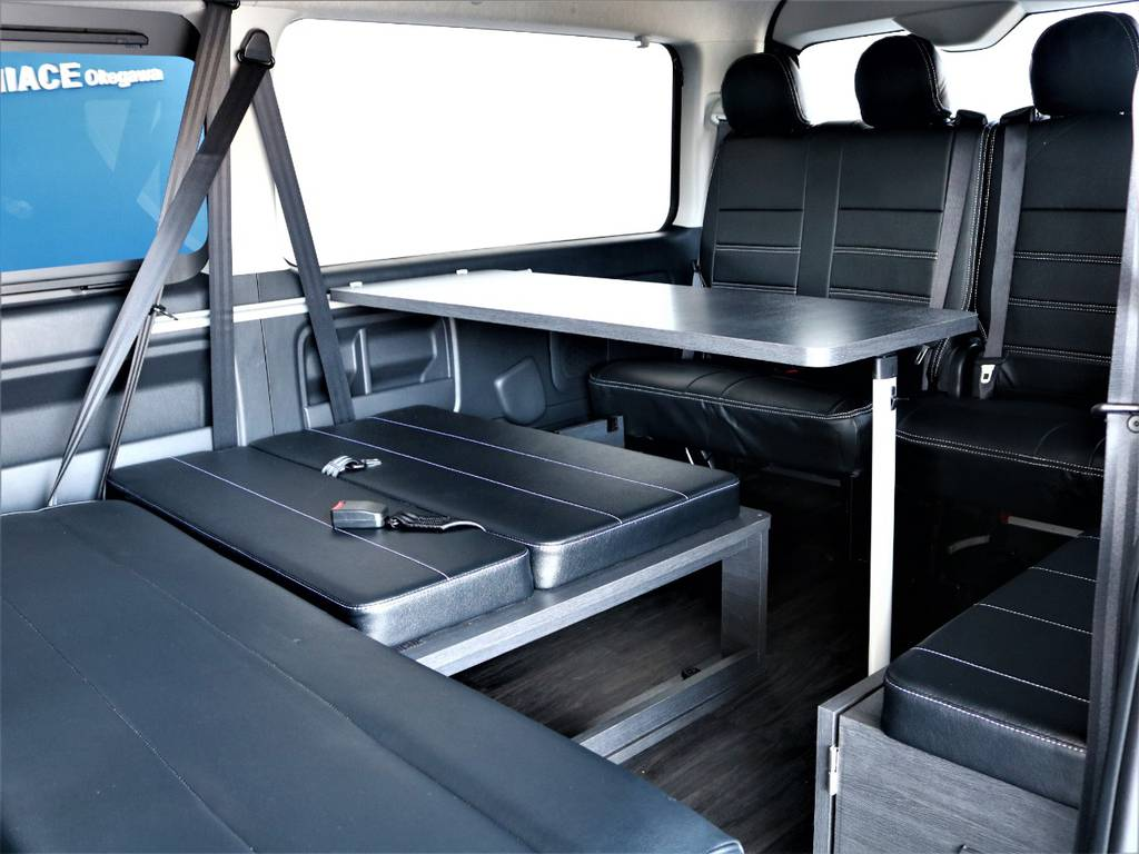 テーブル取り外し可能です! | トヨタ ハイエース 2.7 GL ロング ミドルルーフ バージョンⅡ内装架装