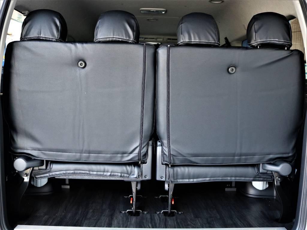 後席4人定員です! | トヨタ ハイエース 2.7 GL ロング ミドルルーフ バージョンⅡ内装架装