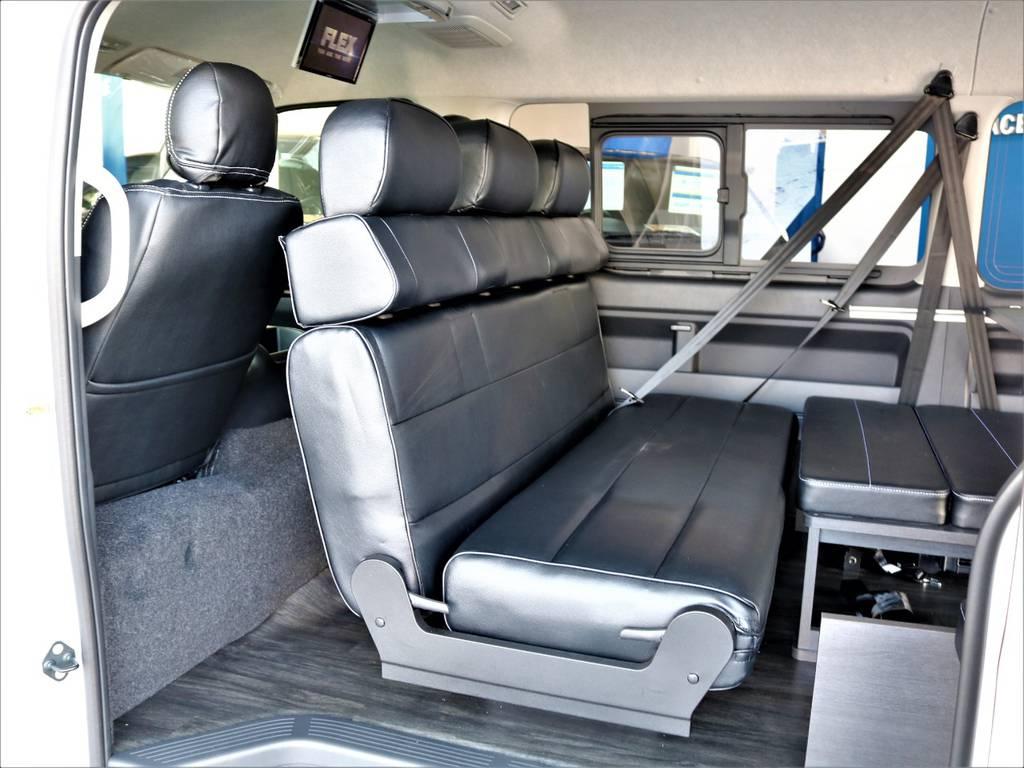 対面式にもできます! | トヨタ ハイエース 2.7 GL ロング ミドルルーフ バージョンⅡ内装架装