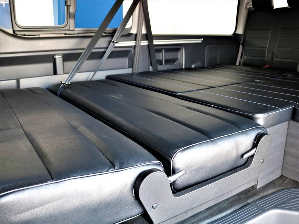 フルフラット可能です! | トヨタ ハイエース 2.7 GL ロング ミドルルーフ バージョンⅡ内装架装