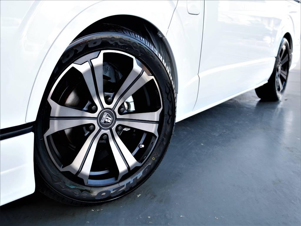 バルベロ18インチアルミホイール! TOYO H20タイヤ! | トヨタ ハイエース 2.7 GL ロング ミドルルーフ バージョンⅡ内装架装