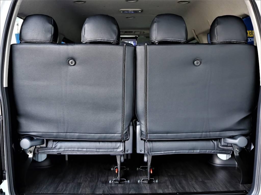 後席4人定員です! | トヨタ ハイエース 2.7 GL ロング ミドルルーフ アレンジR1内装架装