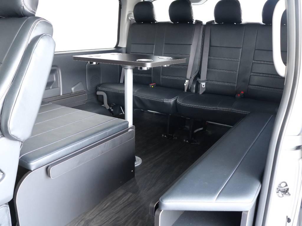 テーブルのみのご使用も可能です! | トヨタ ハイエース 2.7 GL ロング ミドルルーフ アレンジR1内装架装