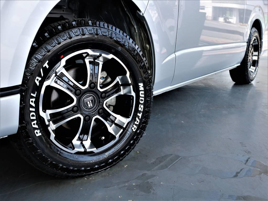 バルベロ17インチアルミホイール! マッドスタータイヤ! | トヨタ ハイエースバン 2.7 スーパーGL ワイド ロング ミドルルーフ 4WD