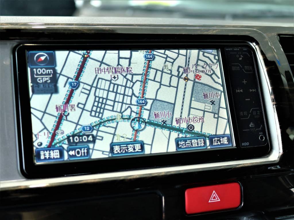 純正ナビ! | トヨタ ハイエースバン 2.7 スーパーGL ワイド ロング ミドルルーフ 4WD
